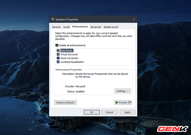 Cách để bạn tăng cường tiếng bass cho loa và tai nghe trong Windows 10 - Ảnh 4.
