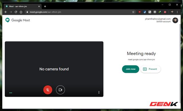 Cách chia sẻ nhanh màn hình duyệt web bằng Google Meet - Ảnh 3.
