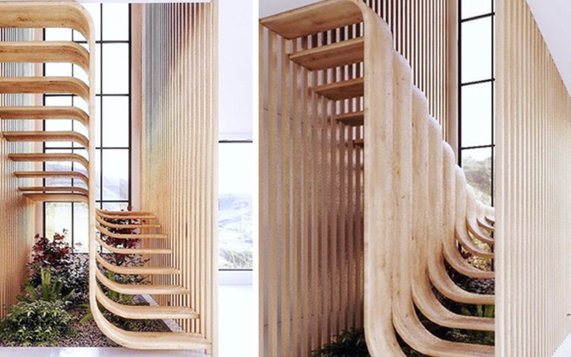 Trong con mắt của kiến trúc sư tài ba, cầu thang cũng có thể biến thành tác phẩm nghệ thuật như thế này đây