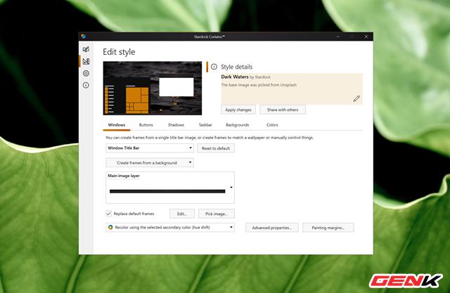 Tự tạo giao diện cho Windows 10 với Stardock Curtains - Ảnh 13.