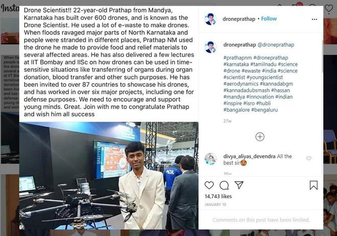 Thần đồng drone Ấn Độ bị bóc phốt: Chụp ké sản phẩm rồi tự nhận là do mình chế tạo - Ảnh 2.
