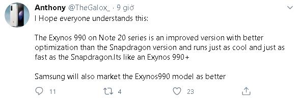 Chip Exynos 990 được trang bị trong Galaxy Note 20 sẽ mạnh ngang Snapdragon 865+ - Ảnh 1.