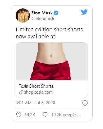 Elon Musk bán quần đùi thương hiệu Tesla giá gần 70 USD - Ảnh 2.