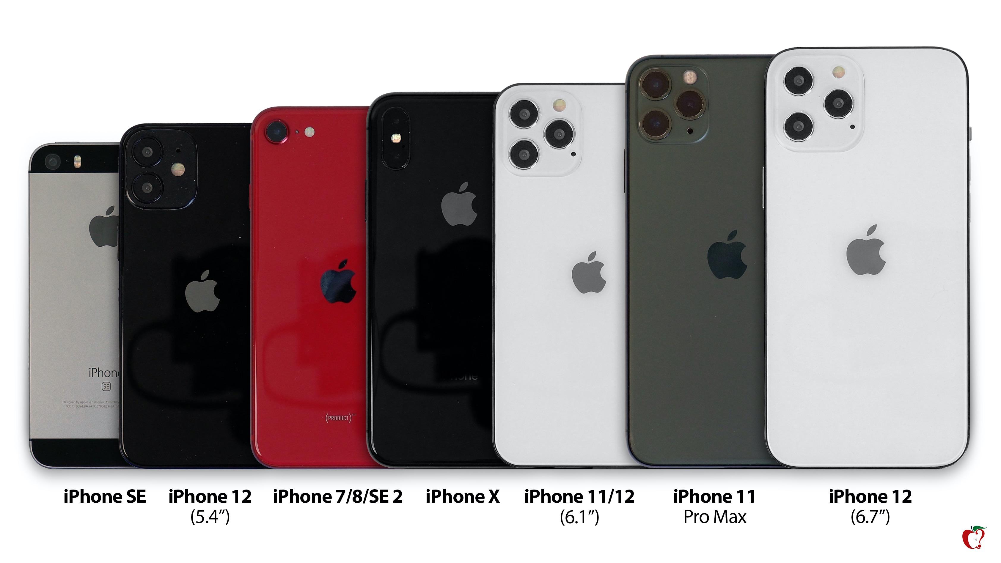 So sánh kích thước iPhone 12 với iPhone đời cũ: iPhone 12 5.4 inch còn nhỏ hơn cả iPhone SE 4.7 inch