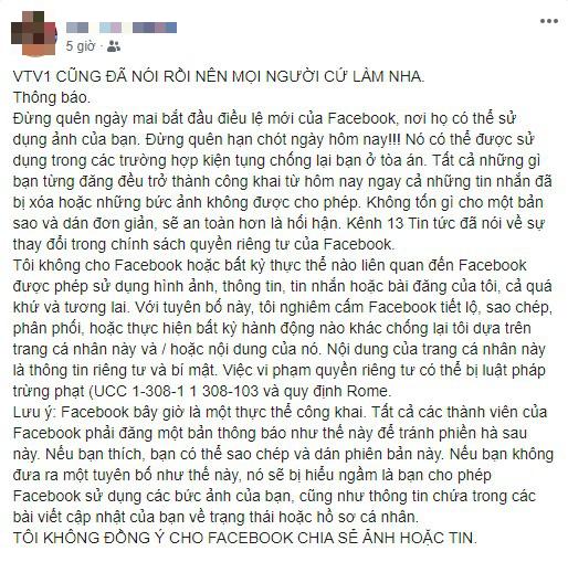 Cảnh báo: Facebook tự ý sử dụng ảnh của bạn... là thông tin giả - Ảnh 1.