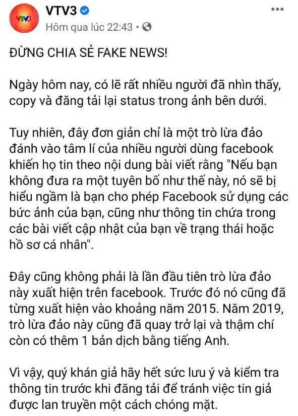 Cảnh báo: Facebook tự ý sử dụng ảnh của bạn... là thông tin giả - Ảnh 2.