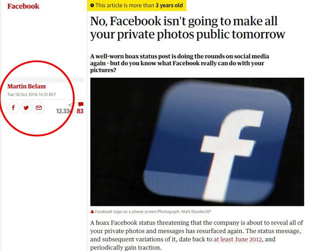 Cảnh báo: Facebook tự ý sử dụng ảnh của bạn... là thông tin giả - Ảnh 4.