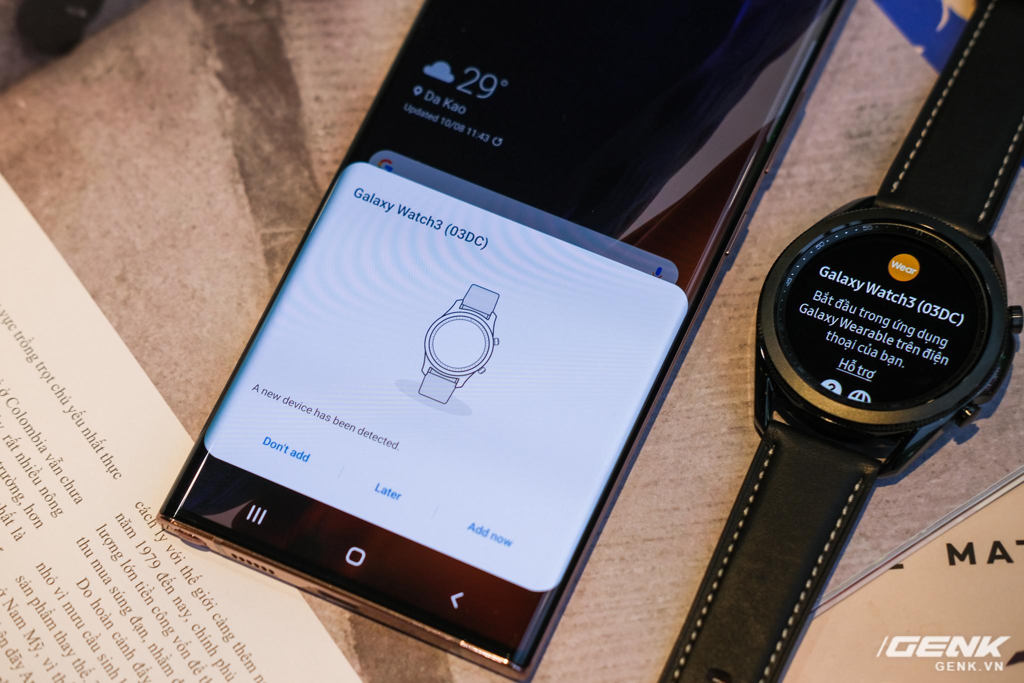 Mở hộp Galaxy Watch3 mặt 45mm: Thiết kế thanh lịch hơn, trang bị khả năng đo nồng độ oxy trong máu, có hơn 120 bài tập tại nhà, bản GPS giá từ 9,99 triệu đồng - Ảnh 5.