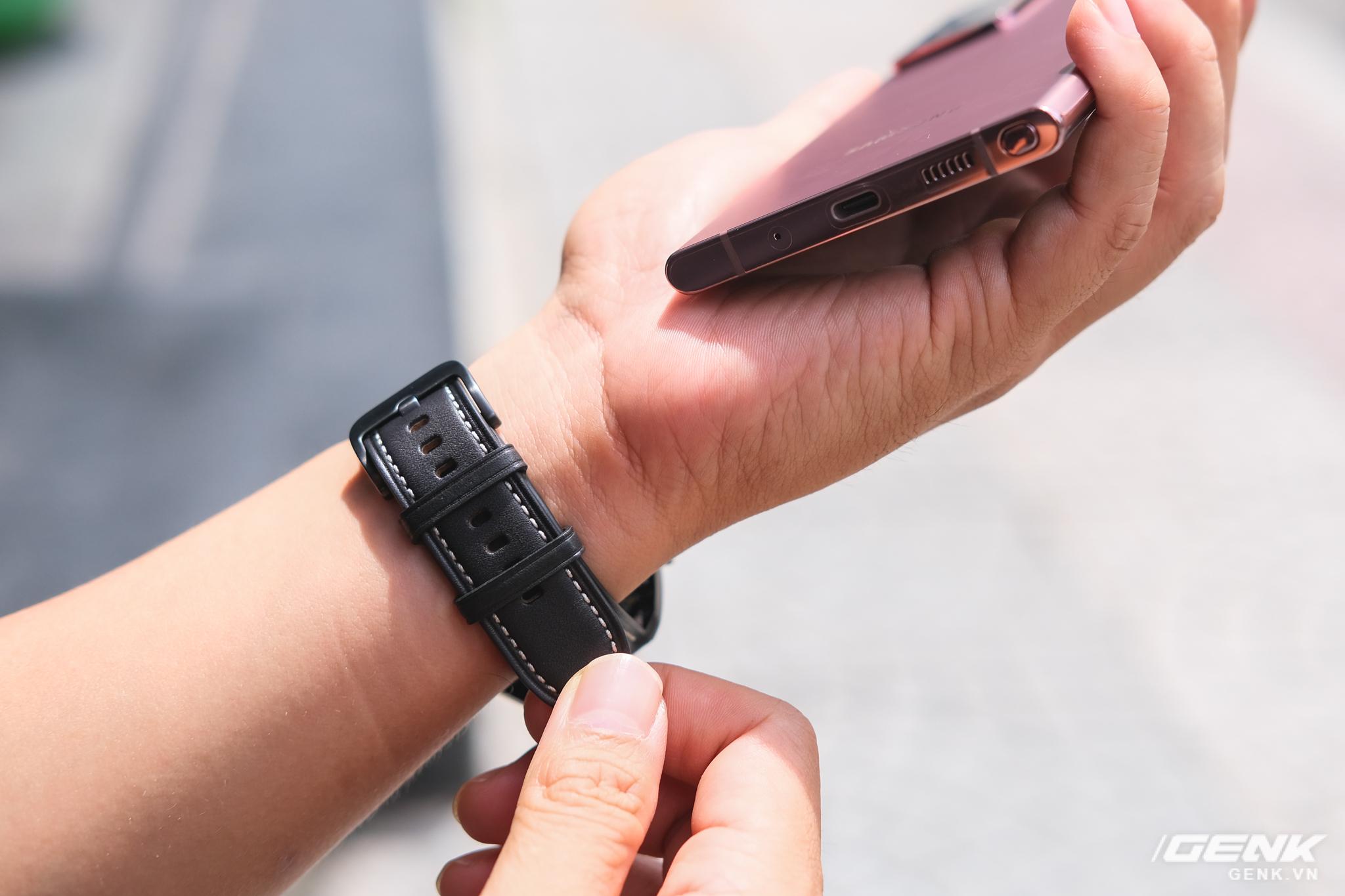 Mở hộp Galaxy Watch3 mặt 45mm: Thiết kế thanh lịch hơn, trang bị khả năng đo nồng độ oxy trong máu, có hơn 120 bài tập tại nhà, bản GPS giá từ 9,99 triệu đồng - Ảnh 10.