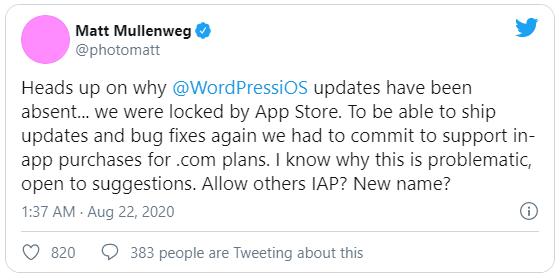 Đến lượt WordPress tố cáo chính sách thanh toán trong ứng dụng vô lý của Apple - Ảnh 1.