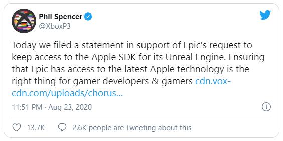 E ngại đòn trả đũa thảm khốc của Apple, Microsoft lên tiếng ủng hộ Epic - Ảnh 2.