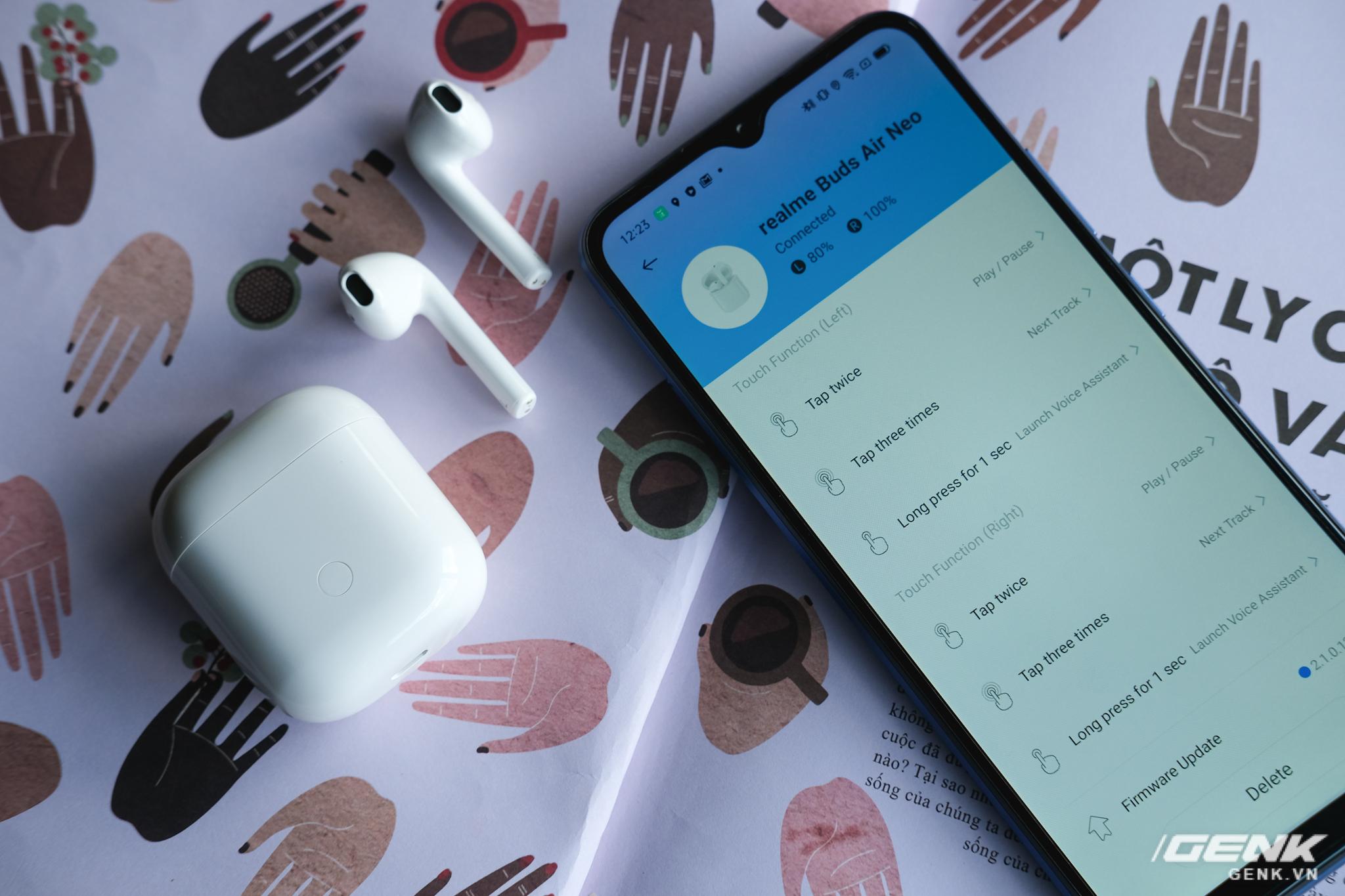 Trên tay tai nghe không dây Realme Buds Air Neo: Thoạt nhìn tưởng AirPods, có điều giá chưa đến 2 triệu đồng - Ảnh 15.