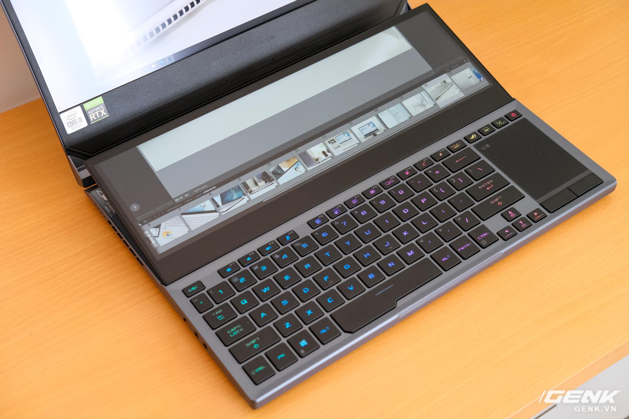 Cận cảnh laptop hai màn hình ROG Zephyrus Duo 15: Không gian hiển thị 2 x 4K đã mắt, cấu hình khủng long, chơi game đã hơn, giá cũng hoảng hơn - Ảnh 4.