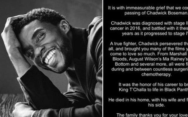 Sự ra đi của Chadwick Boseman cho thấy bệnh ung thư đại trực tràng ngày càng trẻ hóa - Ảnh 1.