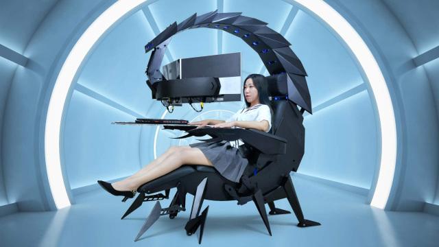 Ghế chơi game hình bọ cạp có thể biến hình đầy ảo diệu - Ảnh 1.