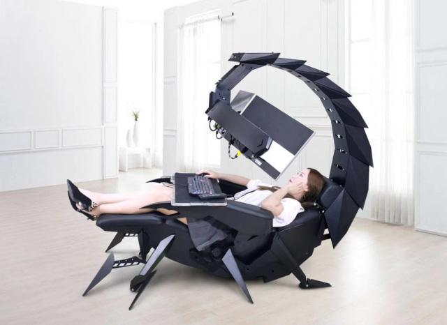 Ghế chơi game hình bọ cạp có thể biến hình đầy ảo diệu - Ảnh 6.