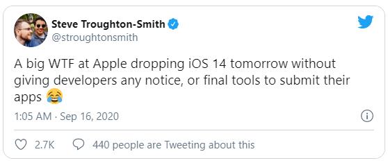 Ra mắt iOS 14 sớm hơn thường lệ, Apple vừa vả một cái tát đau điếng vào các nhà phát triển - Ảnh 2.