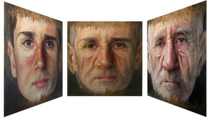 Những bức tranh chân dung kỳ lạ khiến người xem ngỡ ngàng vì có nhiều khuôn mặt từ các góc nhìn khác nhau - Ảnh 1.
