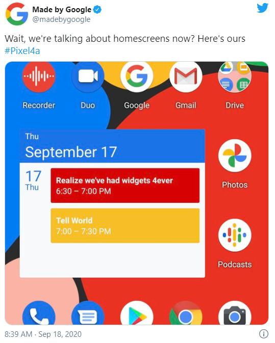 """Google lại """"cà khịa"""" Apple về tính năng widget trên iOS 14, khoe đã có widget từ cách đây cả thập kỷ - Ảnh 2."""