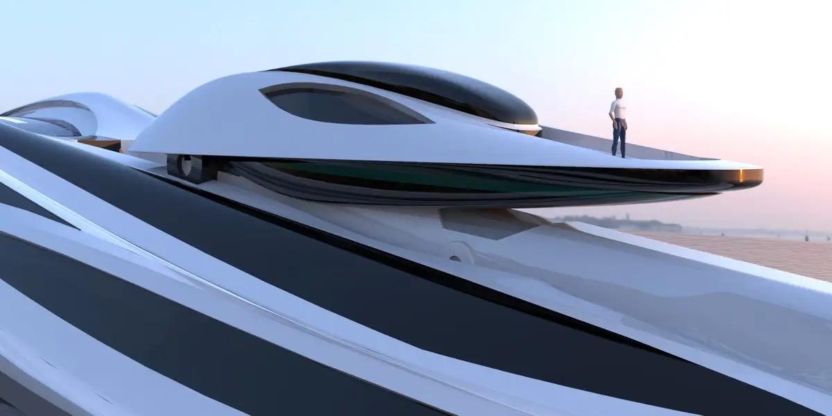 Siêu du thuyền 500 triệu USD này lấy cảm hứng từ anime và có thiết kế trông như một chú thiên nga - Ảnh 2.