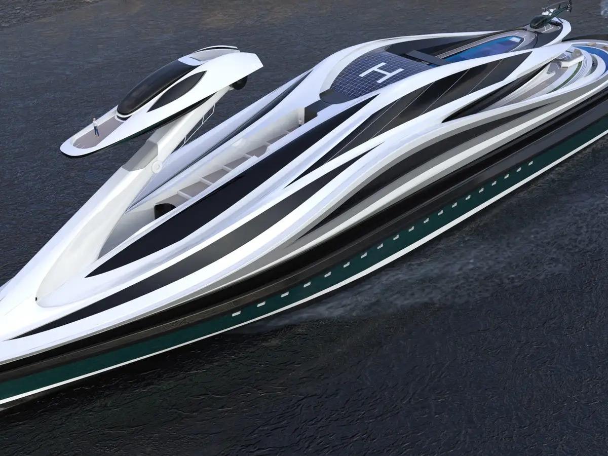 Siêu du thuyền 500 triệu USD này lấy cảm hứng từ anime và có thiết kế trông như một chú thiên nga - Ảnh 1.
