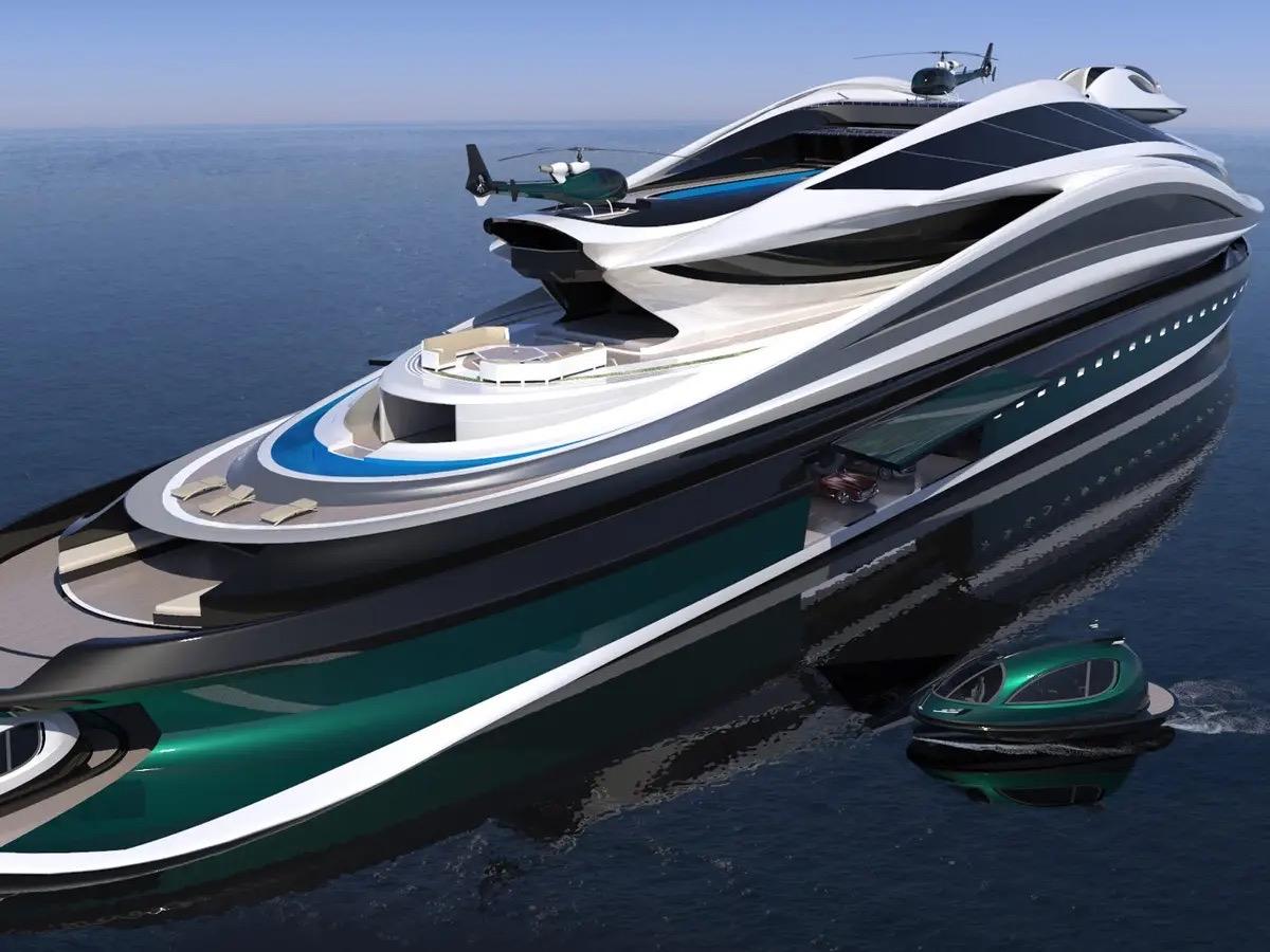 Siêu du thuyền 500 triệu USD này lấy cảm hứng từ anime và có thiết kế trông như một chú thiên nga - Ảnh 7.