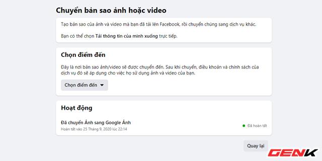 Cách chuyển toàn bộ ảnh từ Facebook sang Google Photos để phòng trường hợp bị khóa tài khoản - Ảnh 12.