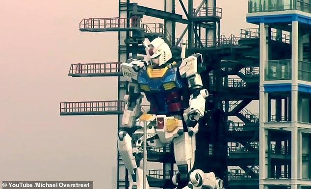 Nhật Bản thử nghiệm thành công robot Gundam cao 18m có thể di chuyển và cử động như người - Ảnh 1.