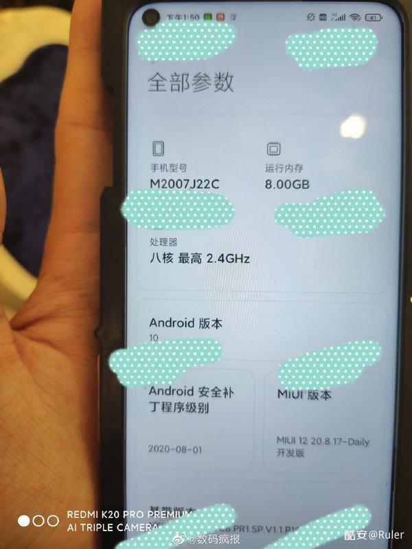 Redmi Note 10 lộ ảnh thực tế: Màn hình nốt ruồi, 4 camera 48MP, ra mắt trong tháng 10 - Ảnh 1.