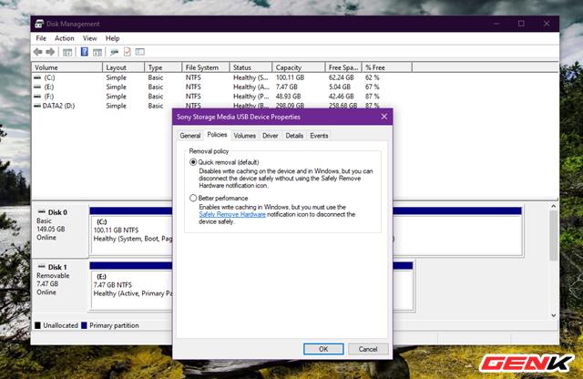 Cách thiết lập Windows 10 luôn ở chế độ an toàn khi tháo USB khỏi máy tính - Ảnh 11.