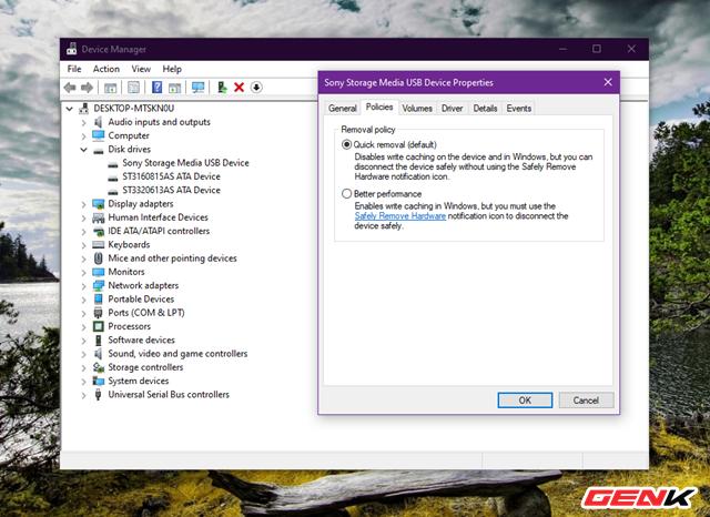 Cách thiết lập Windows 10 luôn ở chế độ an toàn khi tháo USB khỏi máy tính - Ảnh 6.