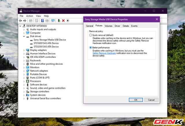 Cách thiết lập Windows 10 luôn ở chế độ an toàn khi tháo USB khỏi máy tính - Ảnh 7.