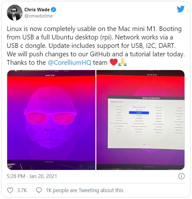 Nhờ một đối thủ cũ của Apple, máy tính Mac dùng chip M1 đã có thể chạy được Linux - Ảnh 1.