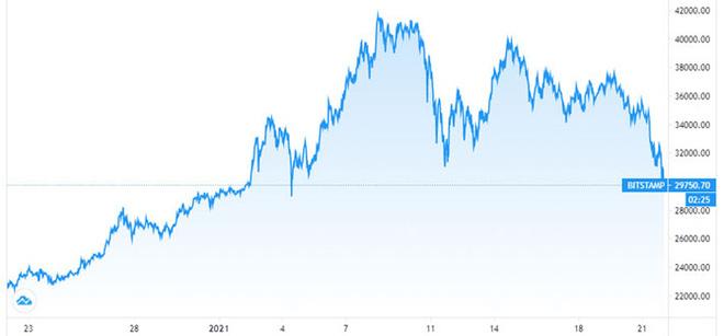 Lo ngại Mỹ siết giám sát, giá Bitcoin lao dốc về dưới 30.000 USD - Ảnh 2.