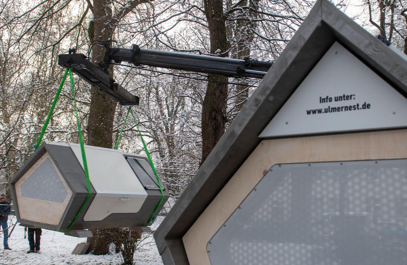 """Thành phố Đức thử nghiệm phòng ngủ """"kén tằm""""giúp người vô gia cư vượt qua mùa đông khắc nghiệt - Ảnh 4."""