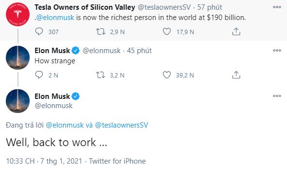 Elon Musk chính thức trở thành người giàu nhất Trái đất - Ảnh 2.