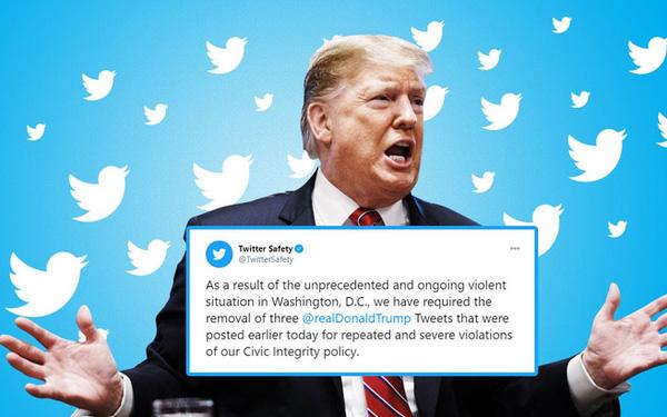 Thủ đô Mỹ bạo loạn chưa từng có, Twitter khóa tài khoản của ông Trump trong 12 giờ, dọa ngừng vĩnh viễn - Ảnh 1.