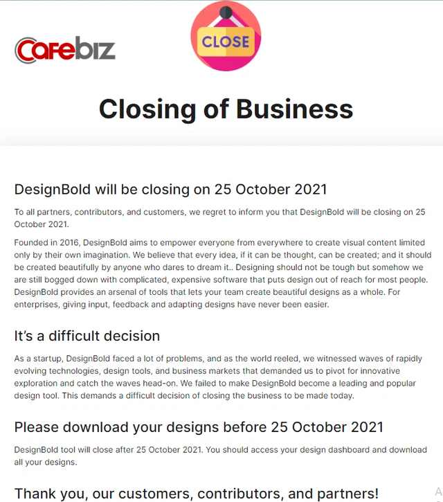 Từng được kỳ vọng là Flappy Bird thứ 2, startup đình đám DesignBold của Hùng Đinh bất ngờ tuyên bố đóng cửa vĩnh viễn - Ảnh 2.