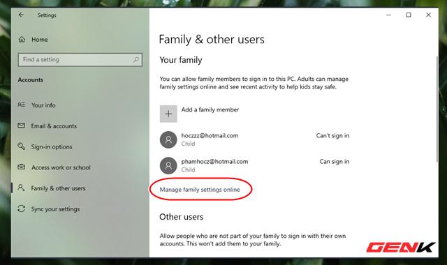 Kiểm soát việc sử dụng máy tính của trẻ nhỏ với tính năng có sẵn trên Windows 10 - Ảnh 6.