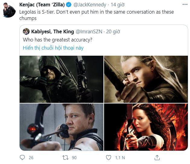Internet tranh cãi nảy lửa xem ai mới là cung thủ giỏi nhất: Legolas, Hawkeye hay Green Arrow? - Ảnh 2.