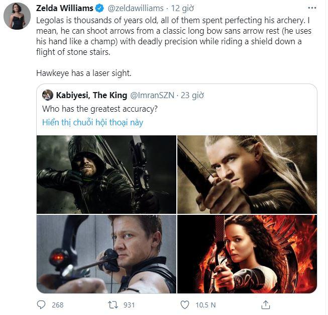 Internet tranh cãi nảy lửa xem ai mới là cung thủ giỏi nhất: Legolas, Hawkeye hay Green Arrow? - Ảnh 4.
