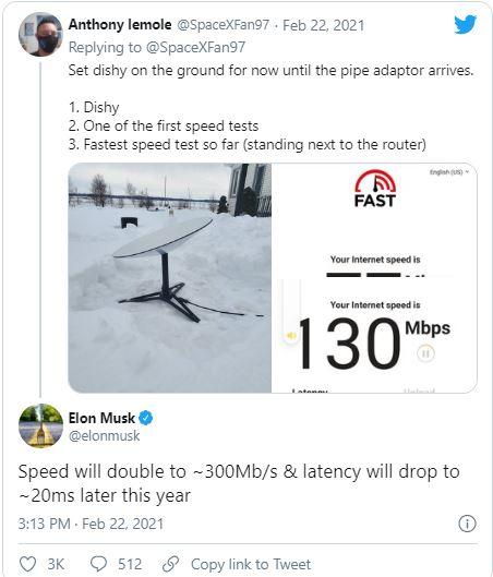 Elon Musk: Tốc độ internet của Starlink sẽ tăng gấp đôi trong năm nay - Ảnh 1.