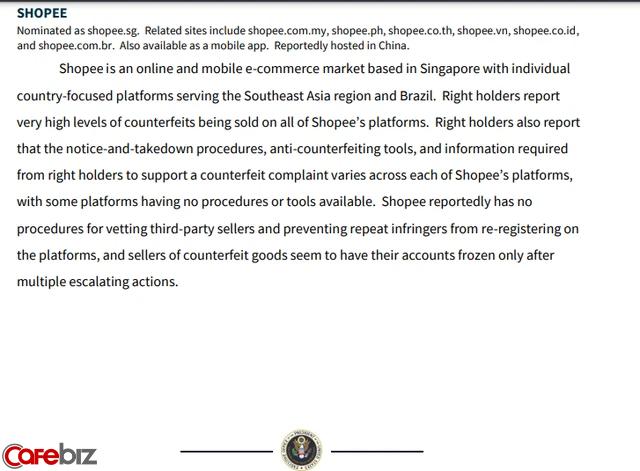 """Shopee bị phía Mỹ cáo buộc bán hàng giả với """"mức độ rất cao"""", không điều tra bên bán hàng và vi phạm bản quyền toàn cầu - Ảnh 2."""
