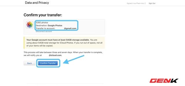 Cách sử dụng dịch vụ chuyển ảnh từ iCloud Photos sang Google Photos của Apple - Ảnh 10.