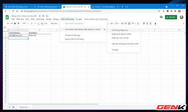 Cách gửi email hàng loạt trong Gmail từ Google Sheets - Ảnh 11.