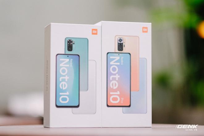 Trên tay Redmi Note 10 và Redmi Note 10 Pro chính hãng: Đã có màn hình AMOLED 120Hz, Snapdragon 678/732G, giá từ 4.7 triệu - Ảnh 1.