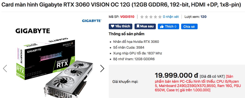 Card đồ hoạ mới của NVIDIA bị thổi giá gấp 3 lần tại VN - Ảnh 3.