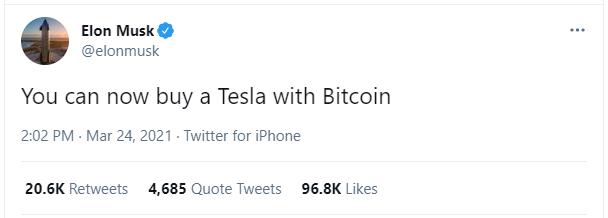 Elon Musk: Đã có thể mua xe Tesla bằng Bitcoin - Ảnh 1.