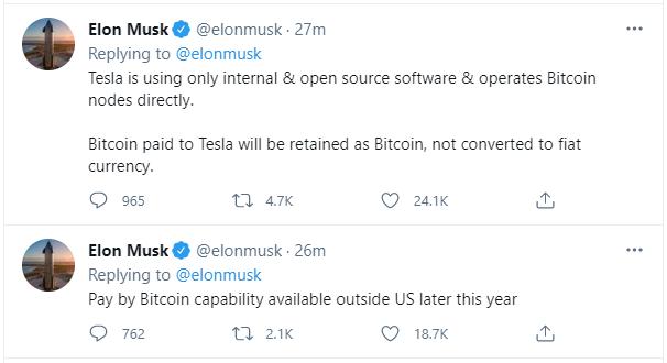 Elon Musk: Đã có thể mua xe Tesla bằng Bitcoin - Ảnh 2.