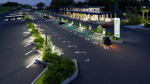 Cận cảnh những trạm sạc nhanh đầu tiên cho ô tô điện VinFast tại Hà Nội - Ảnh 6.